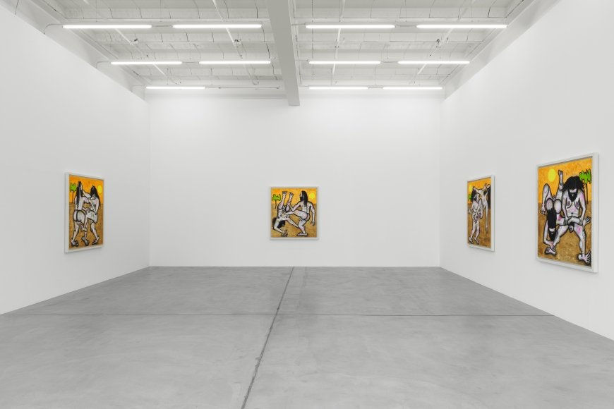 Installation view, Carroll Dunham: Recent Paintings, Galerie Eva Presenhuber, Zurich, 2019 © Carroll Dunham | Courtesy the artist and Galerie Eva Presenhuber, Zurich / New York | Photo: Stefan Altenburger Photography, Zurich