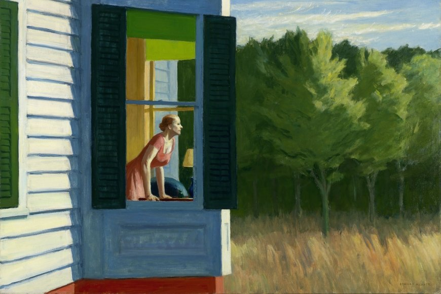 EDWARD HOPPER, CAPE COD MORNING, 1950, Öl auf Leinwand, 86.7 x 102.3 cm, Smithsonian American Art Museum, Gift of the Sara Roby Foundation © Heirs of Josephine Hopper / 2019, ProLitteris, Zürich | Foto: Smithsonian American Art Museum, Gene Young
