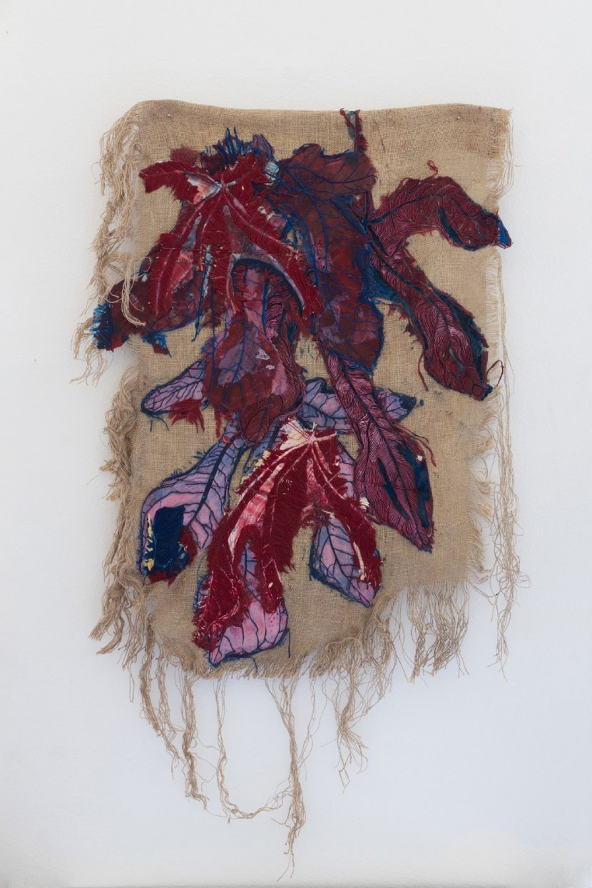 "Christiane Blattmann, ""Superstitions"". Silicone, pigment, jute. 2018."
