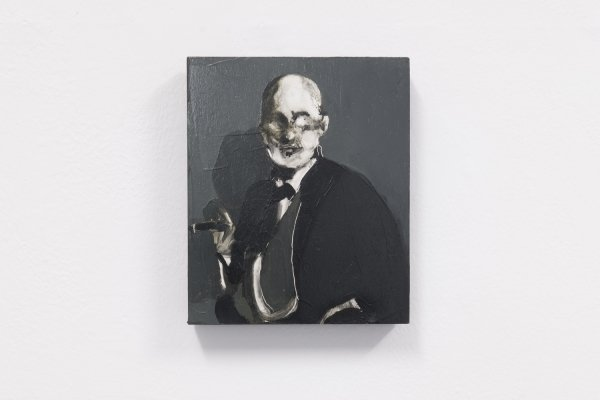 George Stamatakis, Sigismund Schlomo Freud, Oil paint on wood, 2018