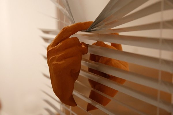 blind side, venetian blinds, ceramics, size variable, 2019