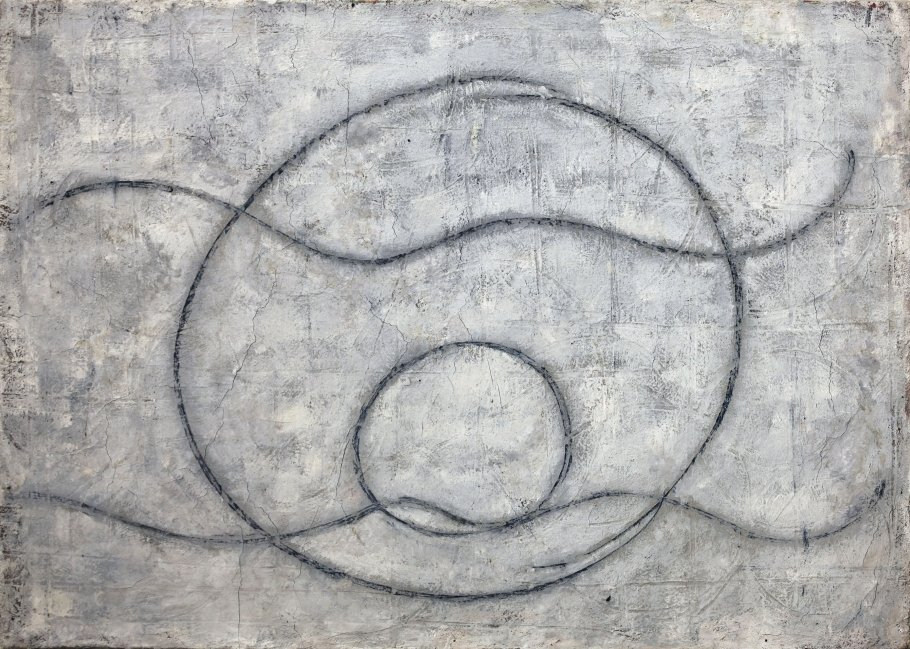Rudolf Ray, Cosmic, 1972, Öl auf Leinwand/Holz, 60,5 x 84,5cm | Courtesy Suppan Fine Arts