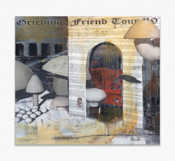 Ben Schumacher Grieving Friend Tour 2019 2019 Oil and UV print on canvas 148 × 150 cm
