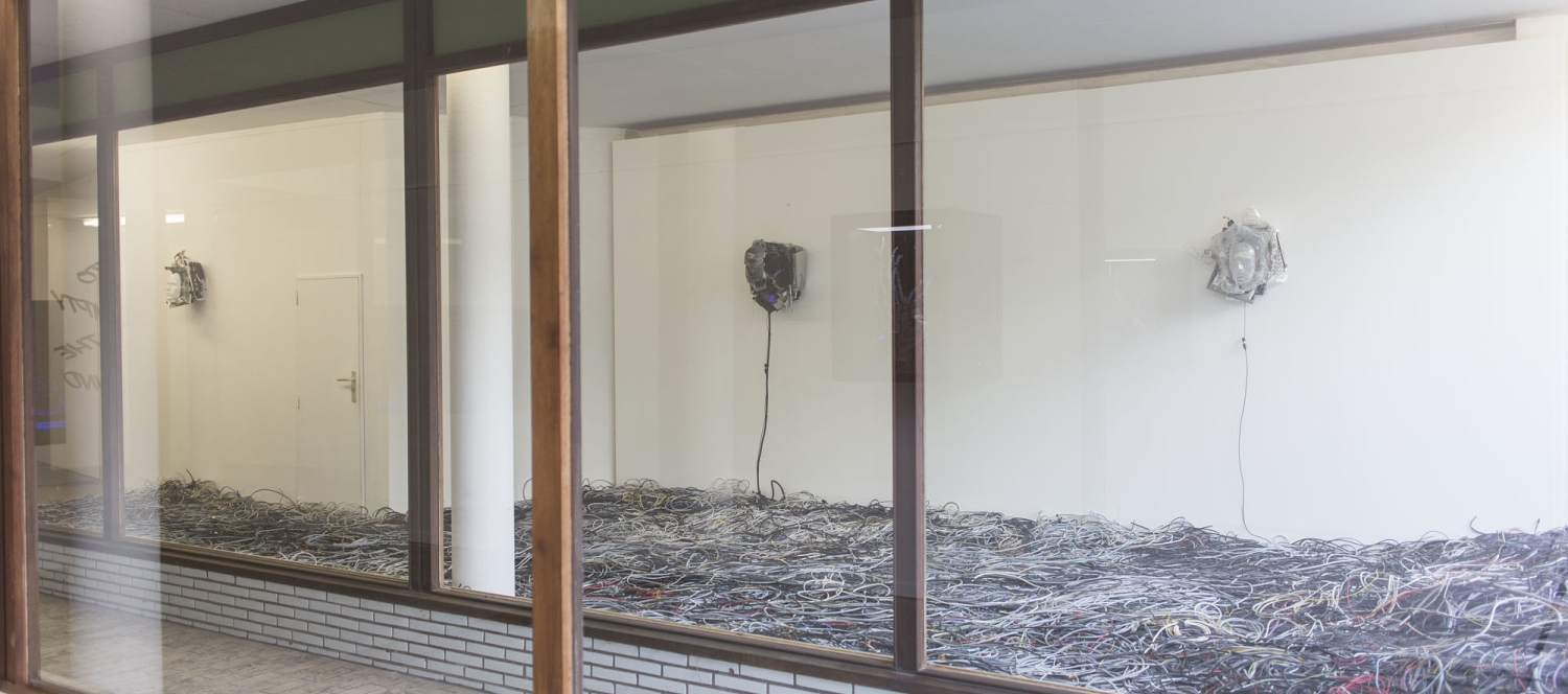 Joachim Coucke, To empty the mind, installation view at The Stable, Waregem, Belgium.