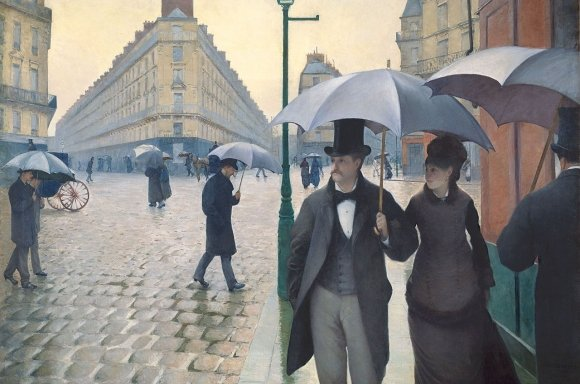 Gustave Caillebotte, Rue de Paris, temps de pluie (Straße in Paris, Regenwetter), Detail, 1877 © The Art Institute of Chicago