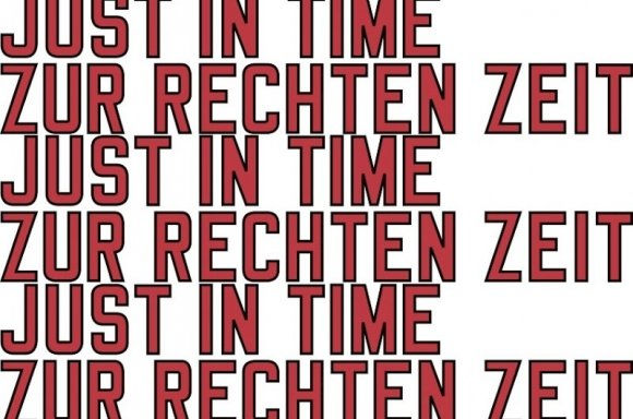 Lawrence Weiner, JUST IN TIME, 2019 | Courtesy Galerie Hubert Winter, Wien