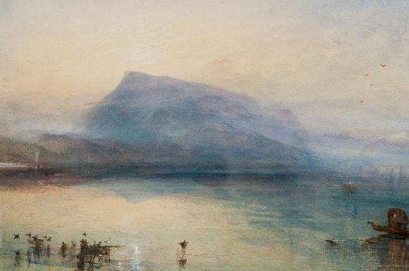 Joseph Mallord William Turner, The Blue Rigi, Sunrise, 1842 Aquarell auf Papier, 29.7 x 45 cm, © Tate, London, 2019