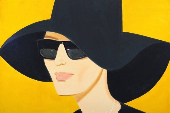 Alex Katz: Ulla in Black, Siebdruck, (Albertina, Wien (c) Bildrecht Wien, 2018)