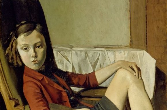 Balthus, Thérèse, 1938, Öl auf Karton auf Holz, 100.3 x 81.3 cm | The Metropolitan Museum of Art, New York, Vermächtnis Mr. und Mrs. Allan D. Emil, zu Ehren von William S. Lieberman, 1987 © Balthus, Foto: The Metropolitan Museum of Art/Art Resource/Scala, Florenz